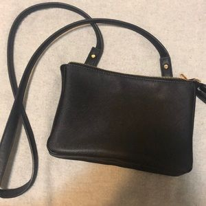 Forever 21 Bags - Black double zipper cross body